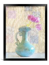 Tulips and Grandmothers Quilt, Framed Print