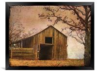 Vintage Wood Barn, Framed Print