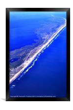 Outer Banks Aerial, Framed Print