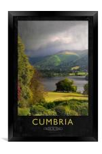 Cumbria Railway Poster, Framed Print