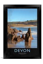 Devon Railway Poster, Framed Print