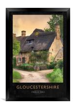 Gloucestershire Railway Poster, Framed Print
