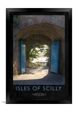 Isles of Scilly Railway Poster, Framed Print