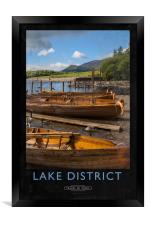 Lake District Railway Poster, Framed Print