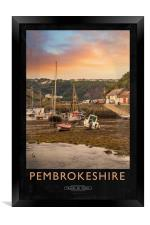Pembrokeshire Railway Poster, Framed Print