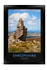 Shropshire Railway Poster, Framed Print