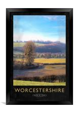 Worcestershire Railway Poster, Framed Print