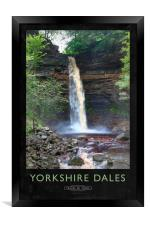 Yorkshire Dales Railway Poster, Framed Print