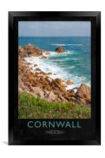 Cornwall Railway Poster, Framed Print