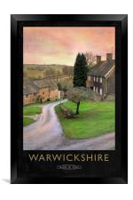 Warwickshire Railway Poster, Framed Print