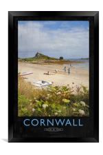 Cornwall Railway Poster, Framed Print