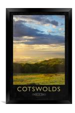 Cotswolds Railway Poster, Framed Print