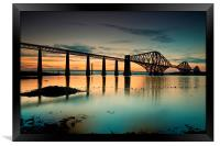 Forth Rail bridge sunset, Framed Print