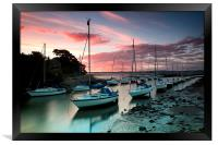 Cramond sunset, Framed Print
