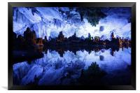 Reed Flute Cave in Guilin, China, Framed Print