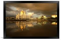 Royal Mosque in Brunei, Framed Print