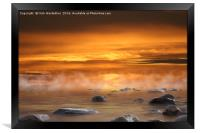Cabrillo Beach at sunset, Framed Print