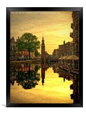Amsterdam Sunset, Framed Print