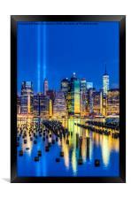 Manhattan NYC 911 Tribute, Framed Print