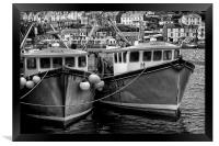Trawlers in Black and White, Framed Print