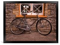 The Old Vintage Bicycle, Framed Print