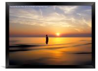 Iron Man at Sunset, Framed Print