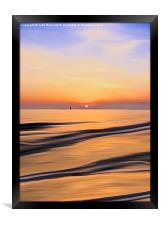 Sunset in the Bay, Framed Print