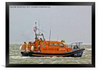 Hoylake Lifeboat (Digital Art), Framed Print