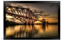 Sunrise over the bridge, Framed Print