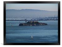 Sailing Around Alcatraz, Framed Print