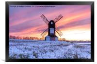 Pitstone Windmill Sunset, Framed Print