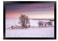Winter Sunrise, Framed Print