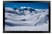 Vallee des Avals, Framed Print