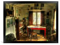 The Writing Shed, Dylan Thomas, Framed Print