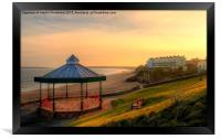 Bandstand and South Beach Tenby, Framed Print