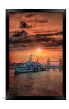 HMS Belfast, Framed Print