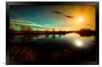 Lancaster Bombers, Framed Print