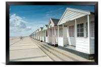 Southwold Beach Huts in Summer, Framed Print