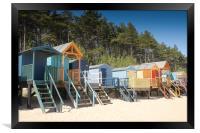 Wells Norfolk Beach Huts, Framed Print