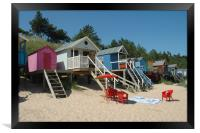 Wells Beach Huts, Norfolk, Framed Print