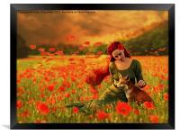 Red Dream, Framed Print