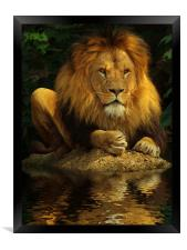 The Lion King, Framed Print