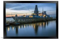 HMS Dragon, Framed Print