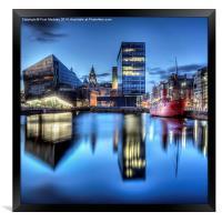 Canning Dock Liverpool - HDR, Framed Print