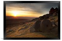 Stanage Edge Sunset, Framed Print