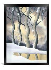 Frozen Forest, Framed Print