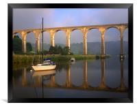 Calstock Viaduct & River Tamar, Framed Print