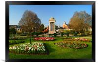 Vivary Park Gardens & Cenotaph, Framed Print