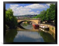 North Parade Bridge & River Avon, Framed Print