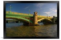 Southwark Bridge & River Thames,London, Framed Print